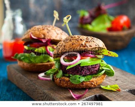 saine · végétarien · Burger · photo · savoureux - photo stock © m-studio