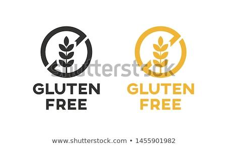 Gluténmentes 3d illusztráció szett kivágás nyomtatott levelek Stock fotó © 72soul
