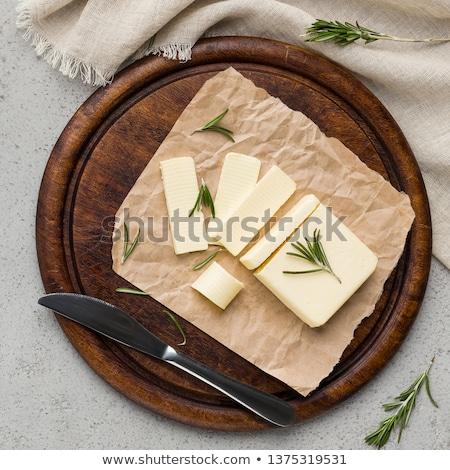 Frescos mantequilla alimentos aislado ingrediente Foto stock © Digifoodstock