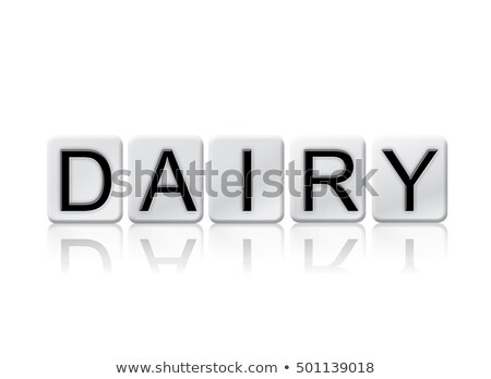 Lactose azulejos palavra isolado branco escrito Foto stock © enterlinedesign