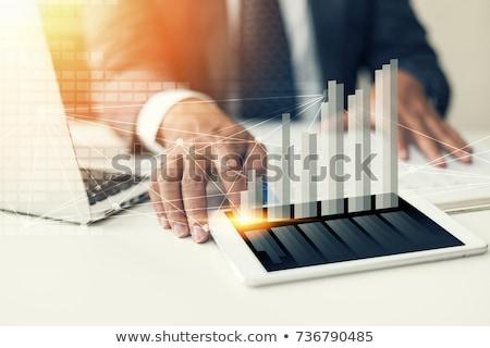economico · sviluppo · analisi · previsione · grafico · mercato - foto d'archivio © lightsource