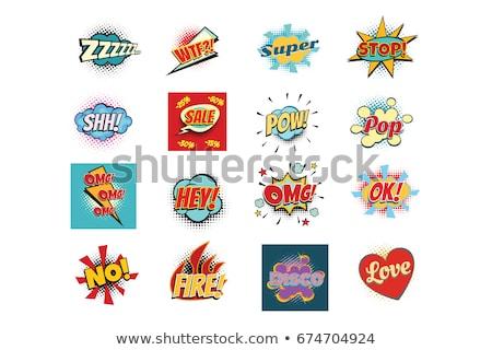 Seth comic lettering phrases texts replica word Stock photo © studiostoks
