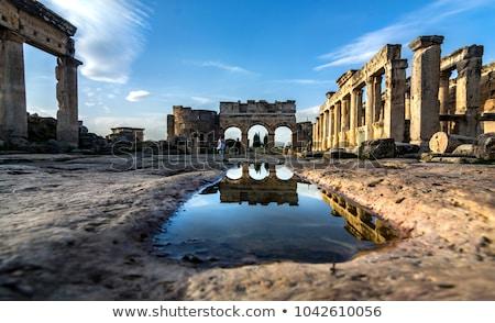 columna · ruinas · puesta · de · sol · antigua · edificio · columnas - foto stock © pakhnyushchyy