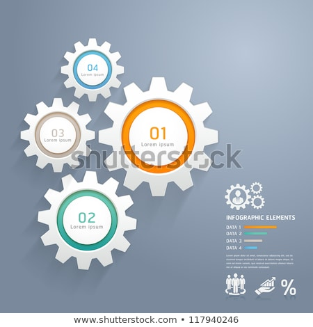 Color wheel with histogram infographics Stock photo © m_pavlov