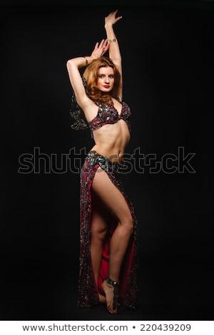 barriga · dançarina · belo · mulher · jovem · amarelo · mulher - foto stock © amok