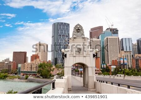 Histórico centro calle puente calgary cielo Foto stock © benkrut