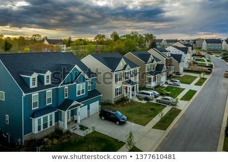 Környék házak csetepaté csendes kerület nagy Stock fotó © 5xinc