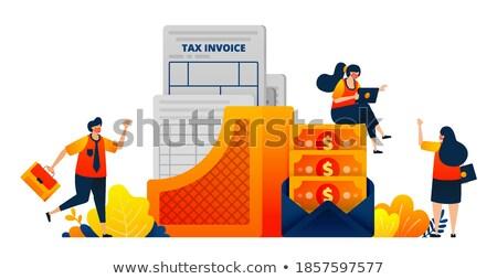 ÁFA poszter terv üzlet szó érték Stock fotó © tashatuvango