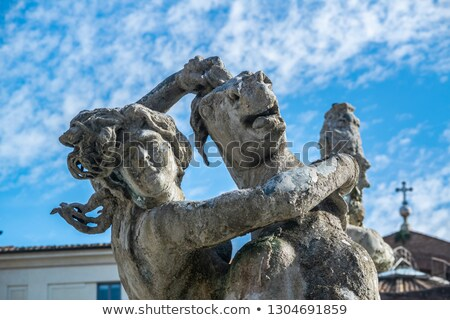 фонтан квадратный здании искусства путешествия городского Сток-фото © ankarb