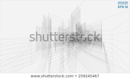 Architectuur abstract 3D scène ontwerp model Stockfoto © ixstudio