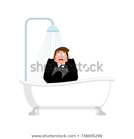 Crazy Boss ванны ума бизнесмен душу Сток-фото © popaukropa