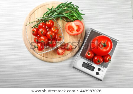 Tomato on the Scales Stock photo © SRNR