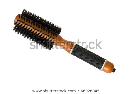 Salon hair brush used for curling and straightening hair isolate Stock photo © rufous