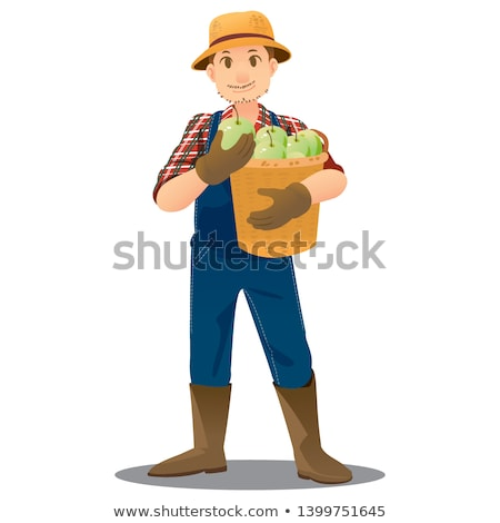 boy and girl carrying apples stock photo © is2