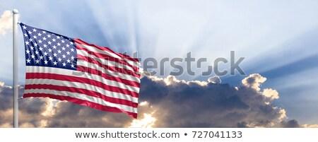 American Flag Sky Background Design Stock photo © Krisdog