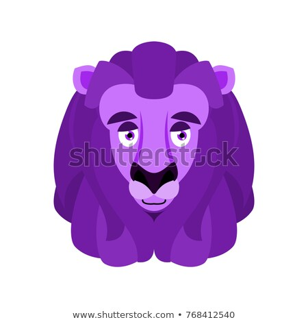 Leeuw aubergine paars ontwerp vruchten Stockfoto © popaukropa