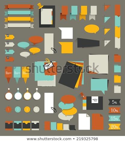 Projeto elementos boletim conselho amarelo rosa Foto stock © oblachko