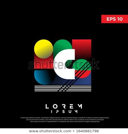 C betű borító retro könyvek sablon elemek Stock fotó © popaukropa