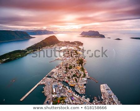 Foto stock: Cidade · Noruega · mar · porta