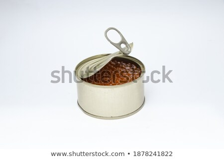 Pink salmon in aluminum can Stock photo © bluering