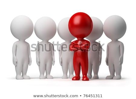 Foto stock: 3D · pequeno · pessoas · bem · sucedido · negócio · pessoa