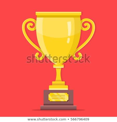winnen · viering · banners · gouden · eerste · plaats - stockfoto © studioworkstock