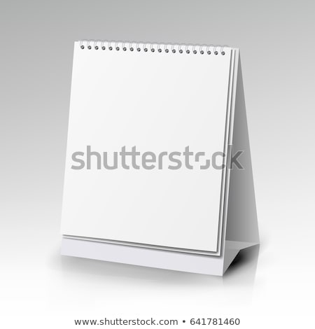 Blanco papier bureau spiraal kalender 3D Stockfoto © user_11870380