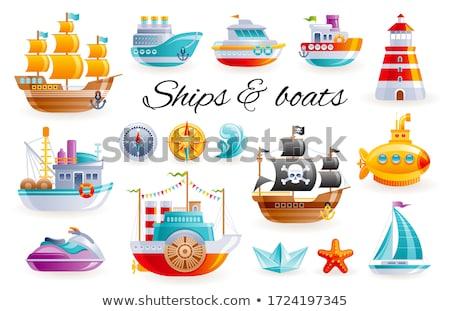 Garçon jouet yacht enfant séance loisirs Photo stock © IS2