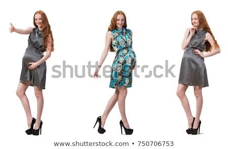 zwangere · vrouw · afbeelding · geïsoleerd · witte · mode - stockfoto © elnur