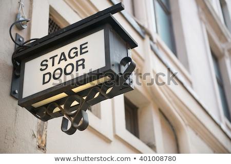 Színpad ajtó nyugat befejezés színház London Stock fotó © IS2