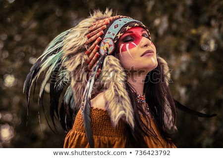 Girl in Native American costume Stock photo © IS2