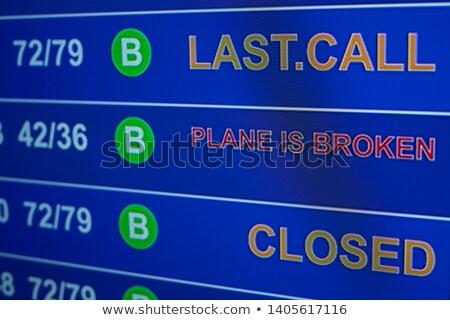 broken information board in airport stock photo © is2