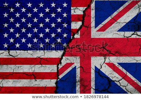 Bandeira grã-bretanha rachado terreno crise Foto stock © dolgachov