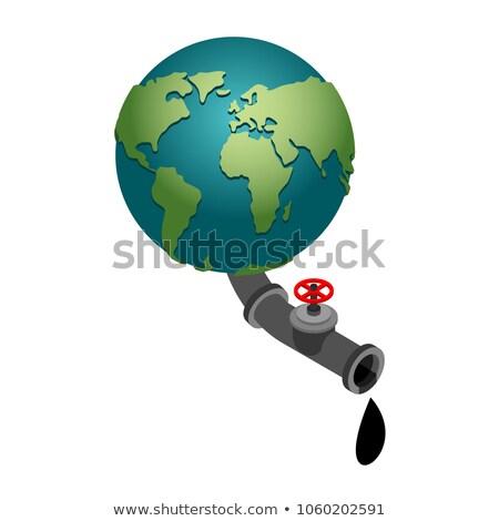 Terre pétrolières robinet minéraux planète terre planète Photo stock © popaukropa