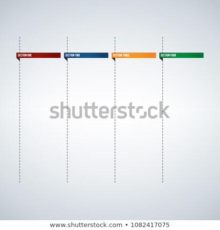Infographic columns for text box or Banners template, colorful tabs design ready to enter your text. Stock photo © kyryloff
