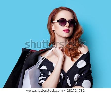 gekruld · jonge · mooie · vrouw - stockfoto © neonshot