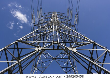 Electricity Pylon with connecting power cables Stock photo © bdspn