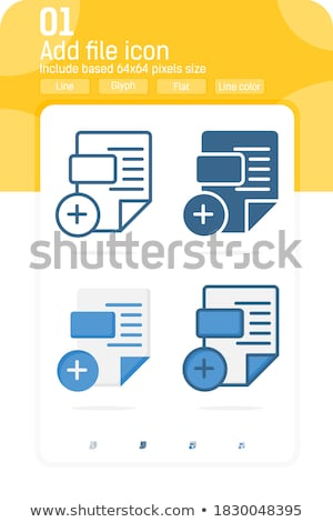 irat · akta · vektor · ikon · felirat · mobil - stock fotó © kyryloff