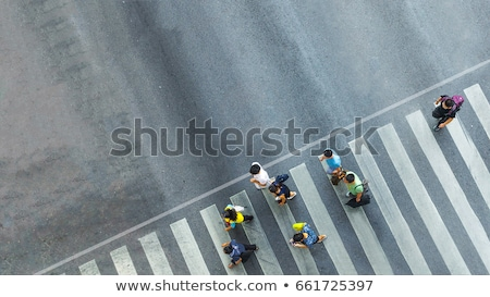 Crowded street, aerial view Stock photo © joyr