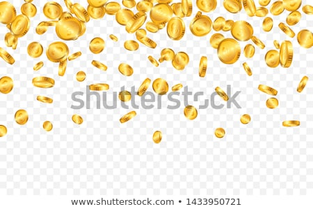 Realistic gold coins illustration on transparent background. Isolated falling coin with dollar sign. Stock photo © articular