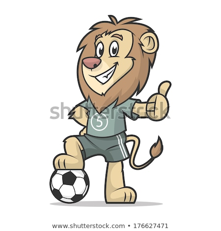 animal soccer players cartoon characters stock photo © izakowski