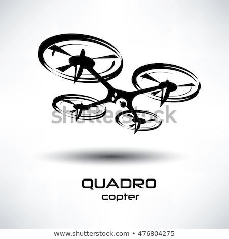 drone icon, quadrocopter stylized vector symbol Stock photo © olehsvetiukha