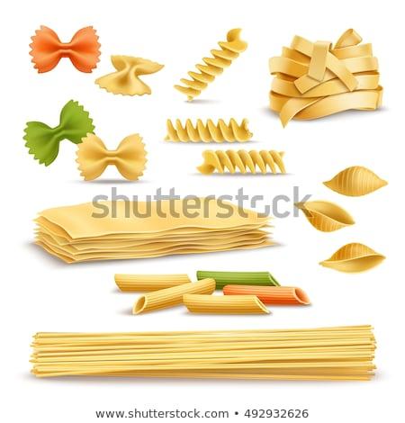 Layout pâtes ingrédients cuisson au-dessus coup Photo stock © dash
