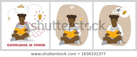Question Mark, Gears, Light Bulb Concept - Back to school Stock photo © Zerbor