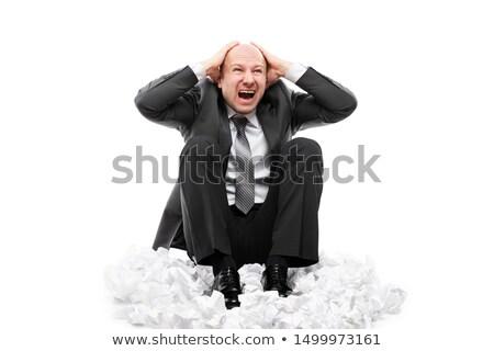 騒々しい 悲鳴 疲れ ビジネスマン ストックフォト © ia_64