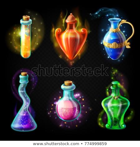 Bruja bebidas magia retrato cara horripilante Foto stock © MilanMarkovic78