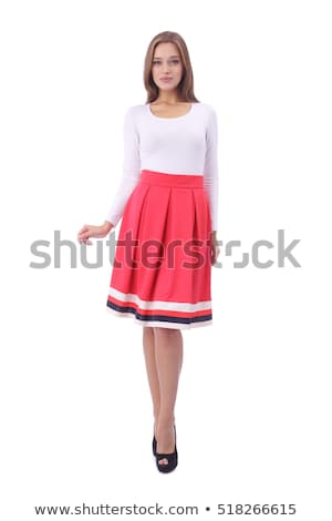 Pretty woman in red skirt Stock photo © acidgrey