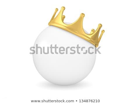 クラウン 白 ボール 3D 3dのレンダリング ストックフォト © djmilic