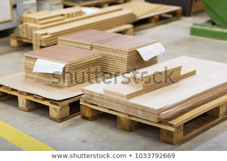 wooden boards and chipboards storing at factory Stock photo © dolgachov