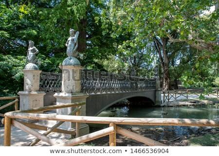 Ponte parque milan Itália viajar estátua Foto stock © boggy